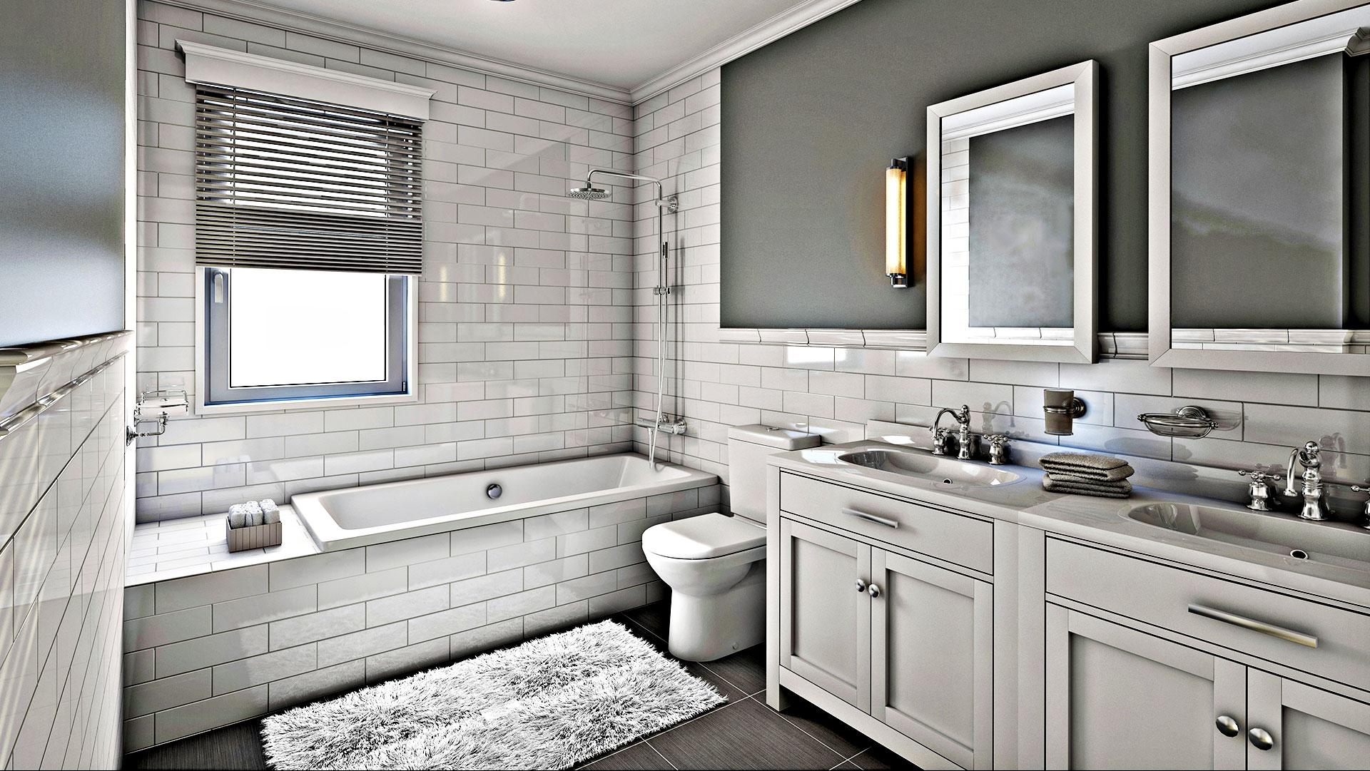 RK Construction Group LLC Remodeled Bathroom